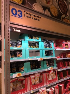 Tortilla chips in a swedish grocery store