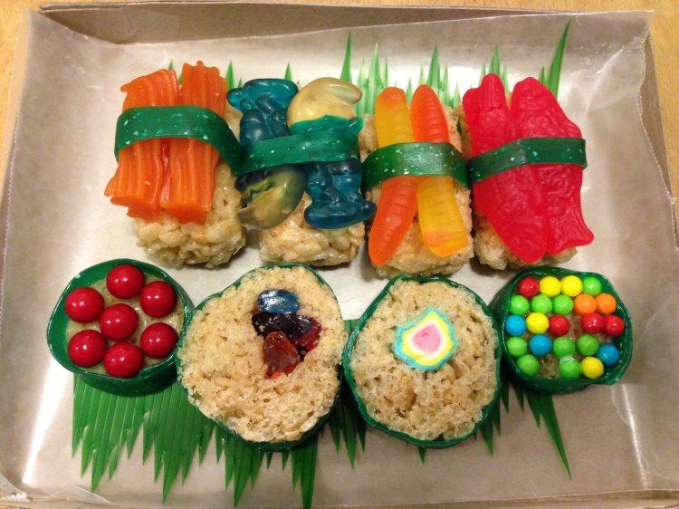 Finished Candy Sushi