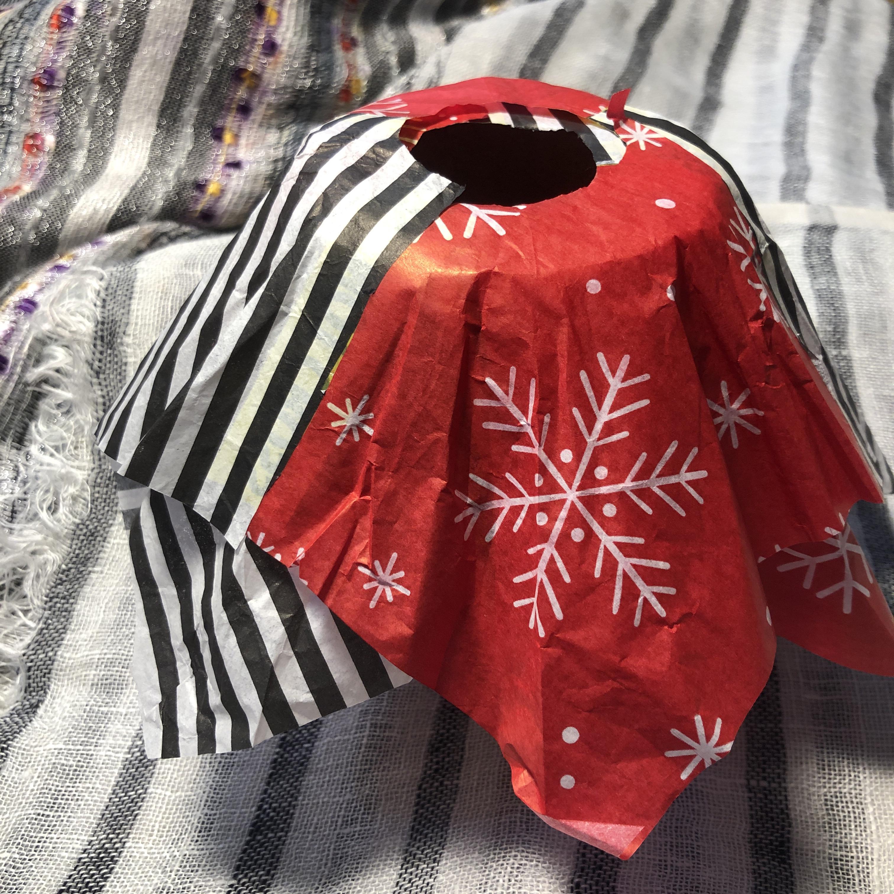 hankerchief skirt prototype made from tissue paper
